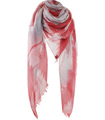 dianora salviati red limone scarf