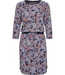dress-jersey knälång klänning blå brandtex