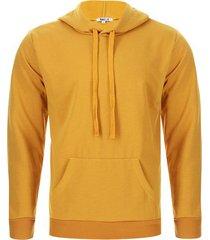 buzo hombre con capota mostaza color amarillo, talla xs