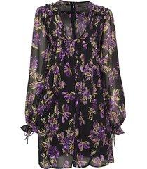 cornelia dress kort klänning lila guess jeans