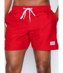 frank dandy breeze long swim shorts badkläder red