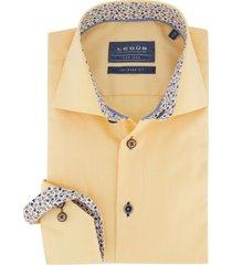 geel overhemd ledub mouwlengte 7 tailored fit