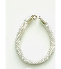 bransoletka mai for men white pearl