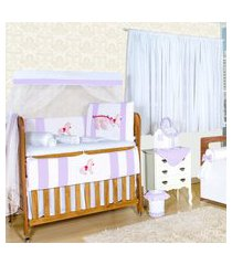 quarto sem cama babá carroagem encantada lilás