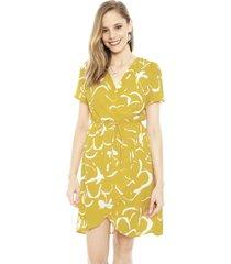 vestido vero moda ilona amarillo - calce regular