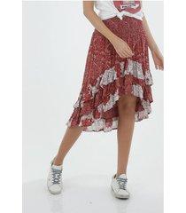 falda corta para mujer topmark, plana y estampada de flores