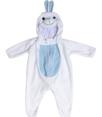 macacã£o pijama coelho branco e azul. - azul - dafiti