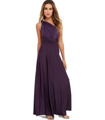 dark purple sexy women convertible wrap maxi dress