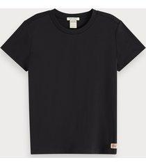 scotch & soda gemerceriseerd jersey t-shirt