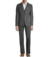 extra slim-fit plaid wool suit