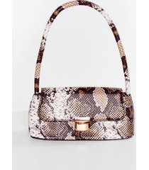 womens snaking the move faux leather shoulder bag - natural