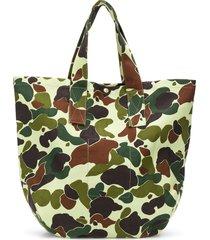 junya watanabe man camouflage tote bag - green