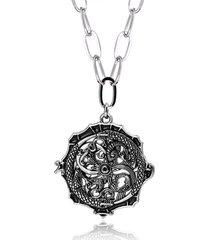 collana pendente unisex di moda collana di fascino della catena di corda di corda totem drago irregolare per uomini donne