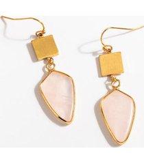 jordyn geo stone drop earrings - pale pink