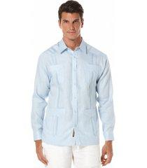 cubavera 100% linen long sleeve guayabera shirt