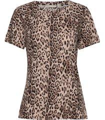 almaiw t-shirt t-shirts & tops short-sleeved brun inwear