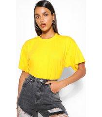 basic oversized t-shirt, goud