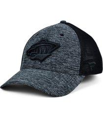 authentic nhl headwear minnesota wild 2020 tnt black ice mesh flex cap
