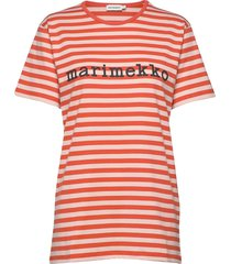 logo lyhythiha t-shirt t-shirts & tops short-sleeved röd marimekko