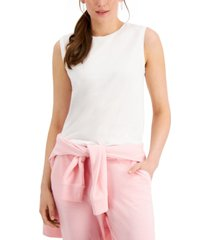 style & co cotton muscle tank, created for macy's