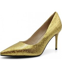 zapato cuero de fiesta paris oro toffy co.