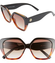 women's le specs so fetch 58mm gradient square cat eye sunglasses -