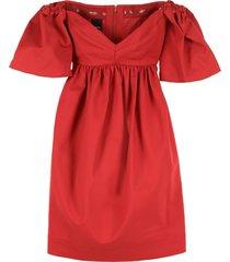 pinko pastiera off-the-shoulders dress