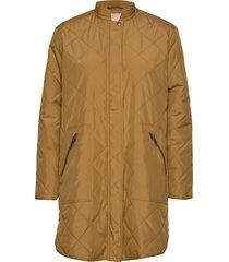 shila coat doorgestikte jas bruin soft rebels