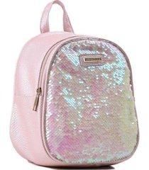 mini mochila infantil world colors paetê