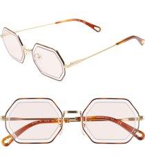 women's chloe tally 53mm octagon sunglasses -