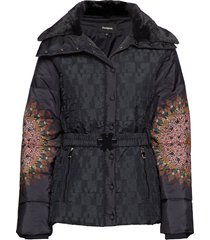 padded aggu doorgestikte jas zwart desigual