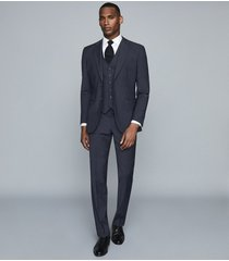 reiss hope - modern fit travel blazer in navy, mens, size 46l