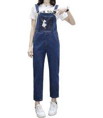 jeans de mono de mezclilla de dorsal vintage para mujer