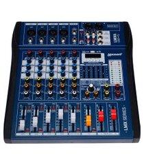 mesa de som 6 canais lexsen lmx6 efeitos interface azul