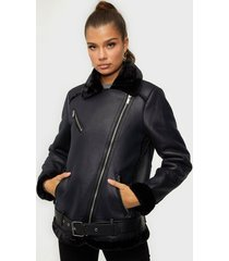pieces pcdora aviator jacket bf faux fur