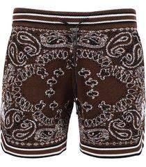 bandana b-ball shorts, dark brown