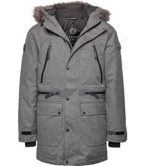 waterproof premium ultimate down parka parka jas grijs superdry