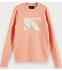 scotch & soda basic long sleeve sweatshirt