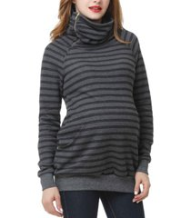 kimi + kai emma striped maternity sweatshirt