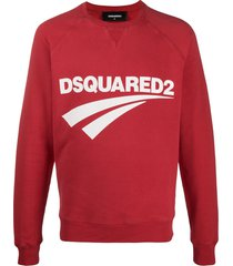 dsquared2 logo print crew neck sweatshirt
