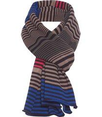 cachecol masculino mixed stripes - preto