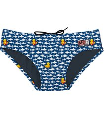 swim brief micro ducky in shark print
