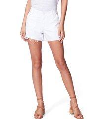 women's paige mayslie utility shorts, size 27 - white