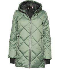 active jacket doorgestikte jas groen röhnisch