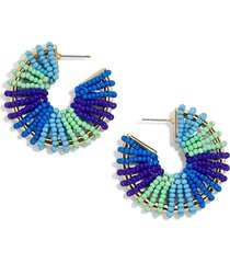women's baublebar giana beaded hoop earrings