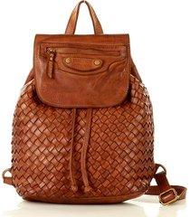miejski plecak skórzany genuine leather