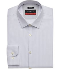 awearness kenneth cole awear-tech light blue woven stripe slim fit dress shirt