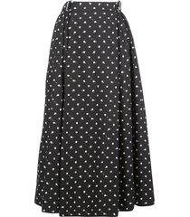 rosetta getty dot-print belted midi skirt - black