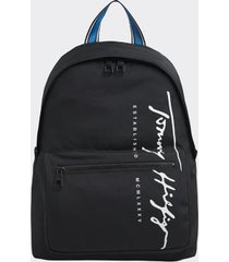 tommy hilfiger women's recycled logo backpack black -