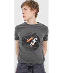 camiseta osklen surfing cinza - cinza - masculino - algodã£o - dafiti